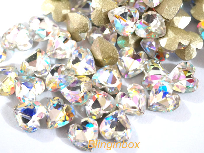 Crystal AB Color K9 glass point back rhinestone for nail art