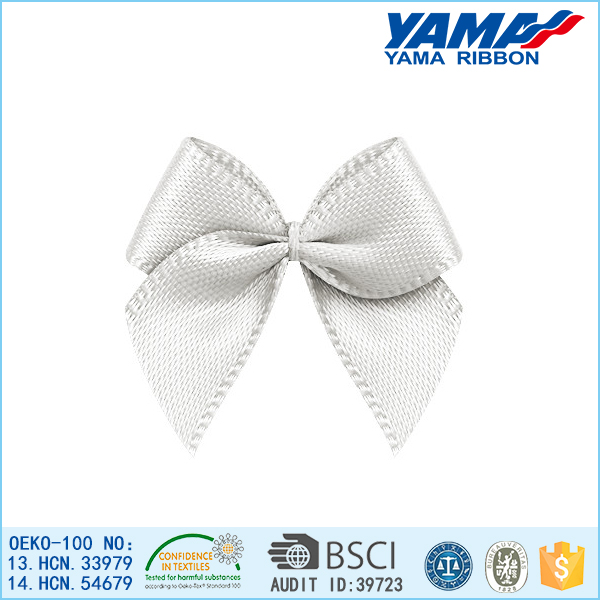 white underweare satin ribbon bows
