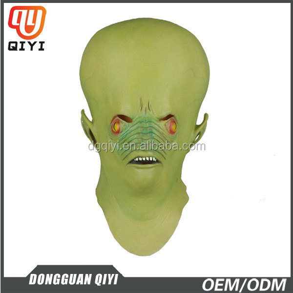 Latex Mask Pointed Ears Fangs Alien Express Masquerade Masks Sale