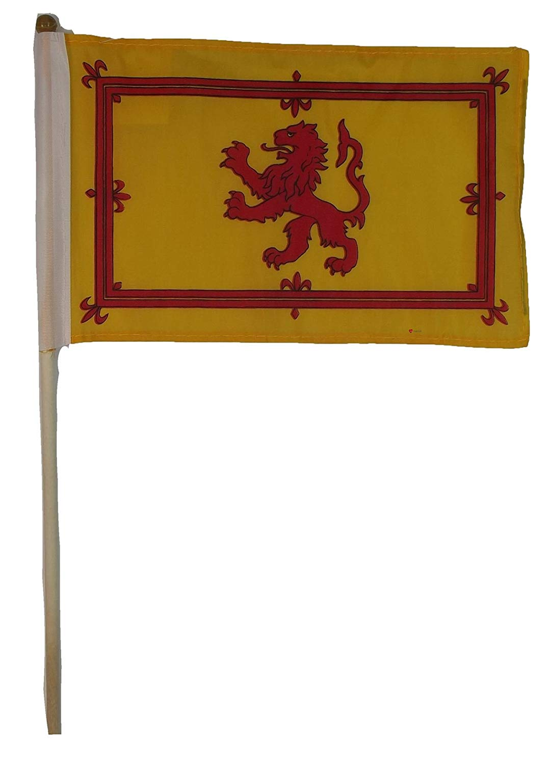 Small Hand Held Flag Lion Rampant 9? X 6? Lion Rampant Design Scottish Flag