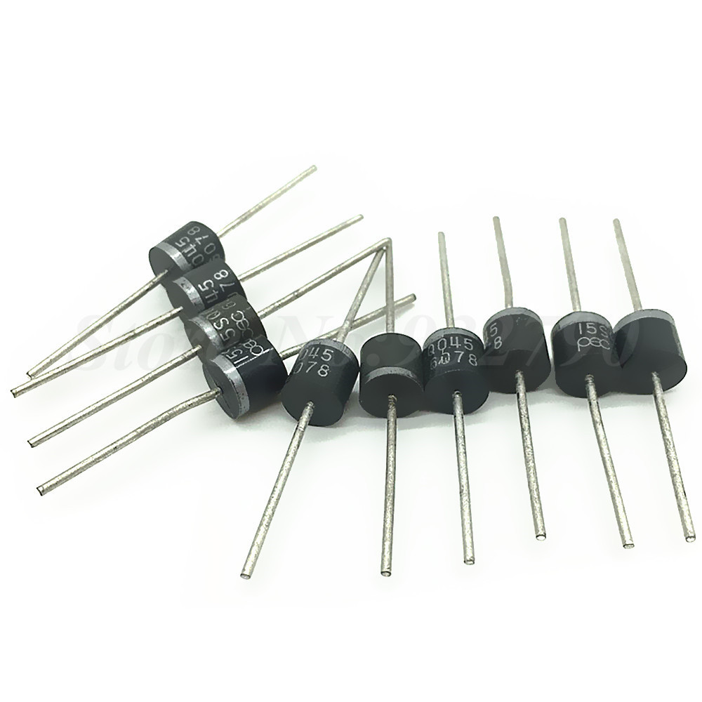 10pcs 15a 45v Blocking Diodes Schottky Axial Rectifier Blocking Diode Solar  Panel Diode For Solar Cells Panel High Frequency New
