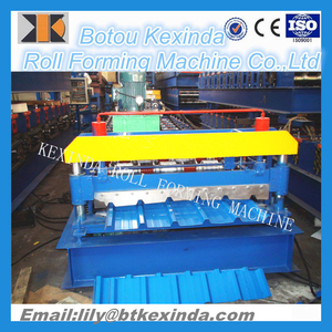 Competitive Price Automatic Galvanized Steel Metal Roof Tile Roll Forming Machine iron sheet making machine