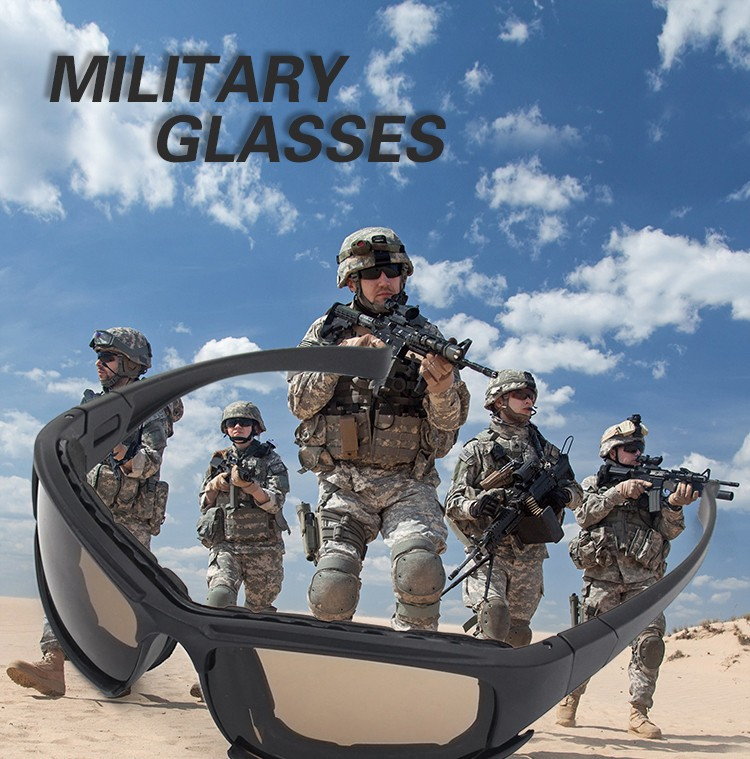 c1975eed517 Shatterproof Army Goggles Desert Storm 4 Lenses CS Game Tactical Protective  Glasses