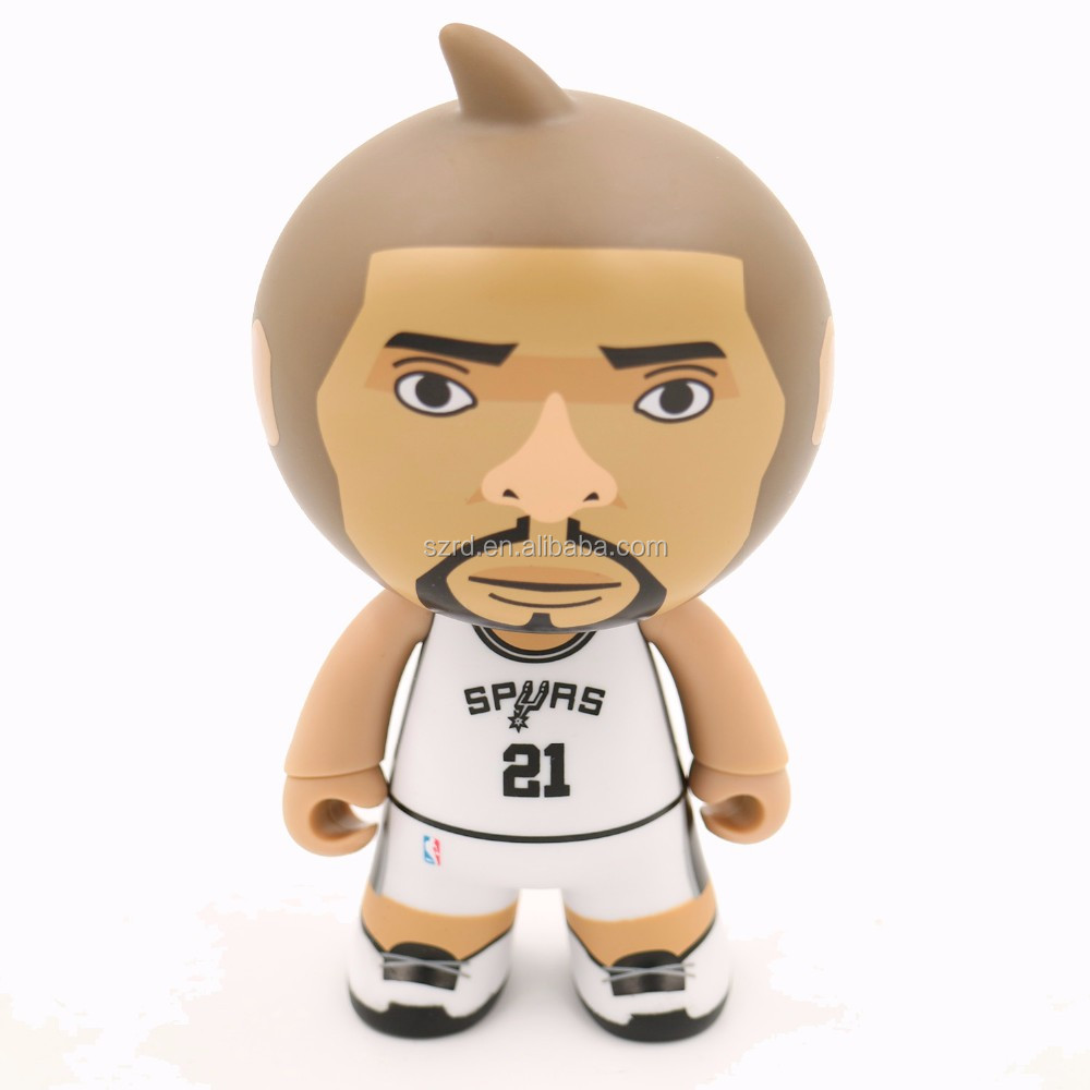 high quality custom made vinyl toy supplier/2016 top sale NBA vinyl figure for collection/new design NBA character vinyl figure