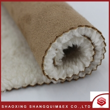 High quality durable using various luxury polyester bonding velour fabric