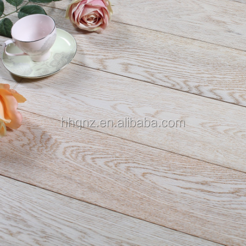 European oak wood engineered flooring Brushed Smoked White Oiled