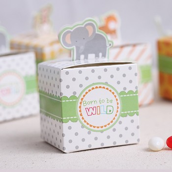 Giraffeelephantmonkeytiger Animals Baby Shower Favorsbirthday