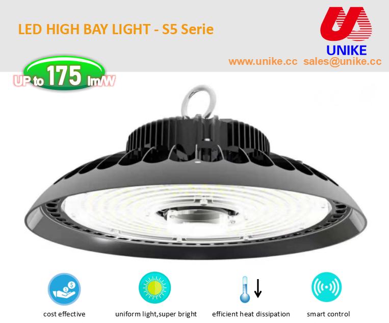 UNK-HB200P 5000K холодный белый Шэньчжэнь 3030 торговый центр светодиодные светильники для высоких промышленных помещений 200 ватт DLC