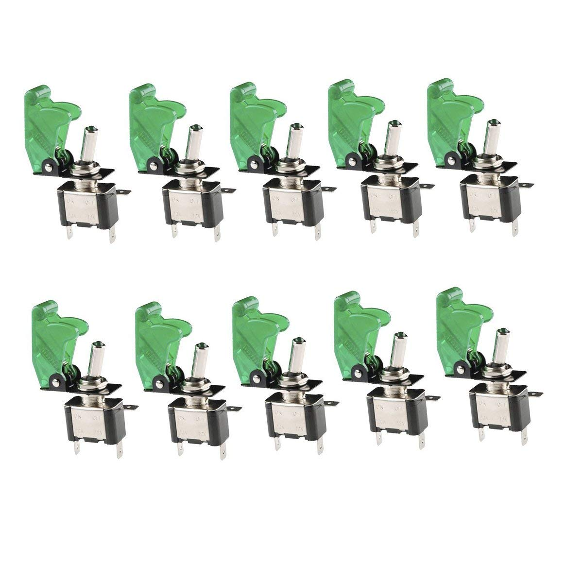 Cheap 12v Toggle Switch Led Find Deals On Switches Illuminated Tip Get Quotations Besttong 10pcs Spst Lighted Rocker Marine Off