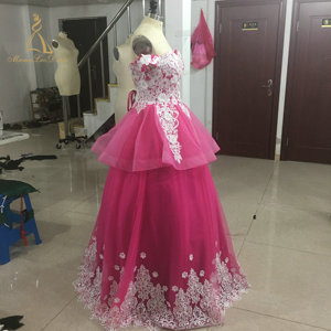 6d061e10c7d Pink Lace Ball Gown