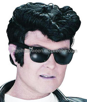 1950 s Black Elvis Presley Party Wig - Adults Mens Pop King Rock N Roll  50 s FW2315 ac36cd1afa0e