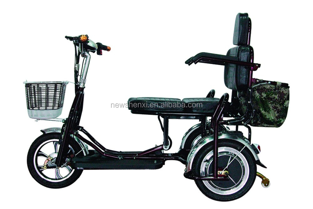 Manufacture Handicapped Electric Folding Tricycle Loading 150kg Brushless Motor Battery 48V