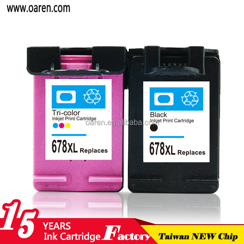 Printer consumable cartridge for hp 678xl for printer1515 all in one for hp 678 inkjet cartridges