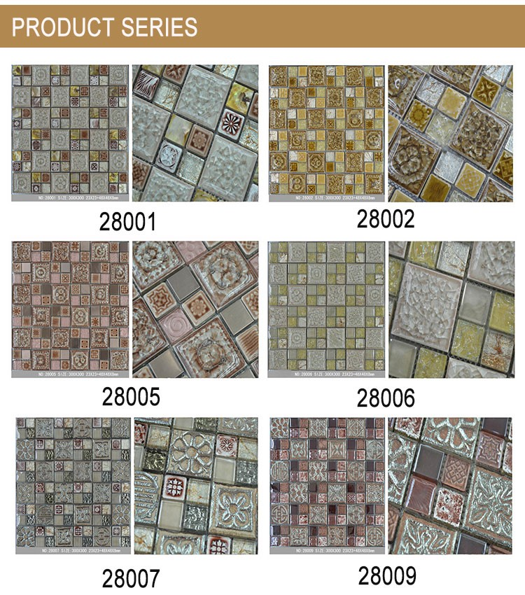 300x300mm Good Quality Ceramic Golden Select Mosaic Wall Tile ...