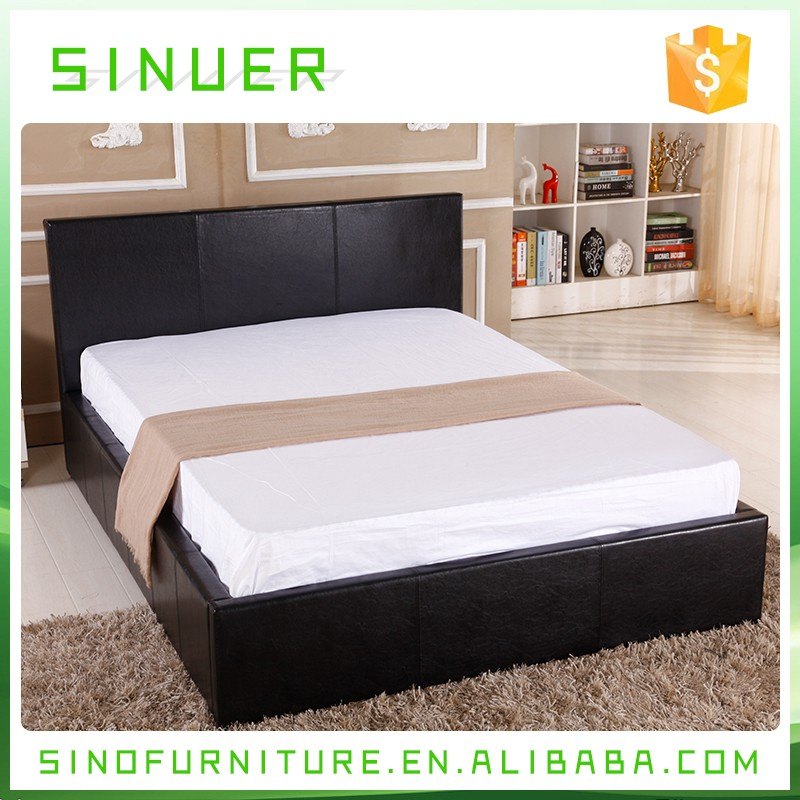 Latest designs bedroom furniture wooden double bed with for Double bed with box design
