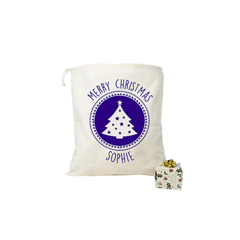 Christmas Linen Creative Christmas Tree Gift Drawstring Cotton Bag