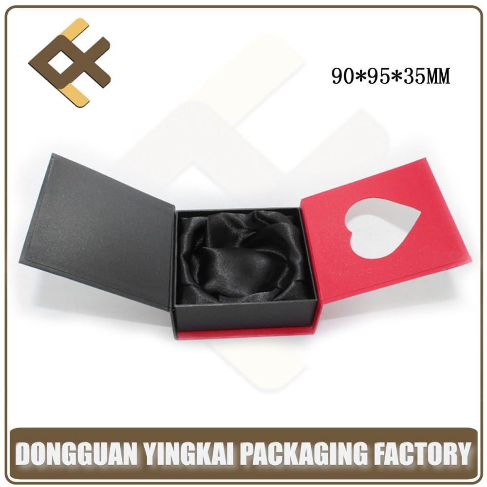 red square paper jewelry bangle box/double door bangle gift box/bangle box with heart