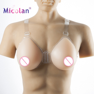 100% Medical Natural Feeling Artificial Silicone Breast Forms For Men