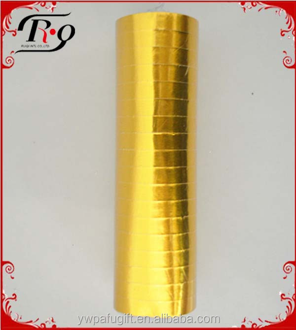 party decoration golden paper serpentine streamers