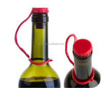 Colorful Anti-Lost Wine And Beverage Bottle Silicone Stoppers With Hook