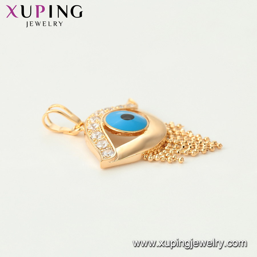 33919 xuping religion style muslim gold plated jewelry greek eye evil charm pendant