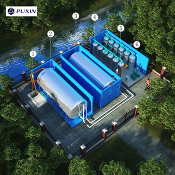 Container type onsite sewage treatment plant