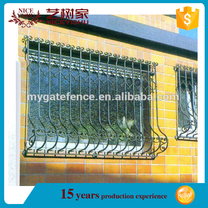 china factory ornamental classic durable wrought iron bars for windows