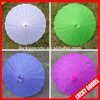 Chinese Style Colorful Silk Fancy Wedding Umbrellas For