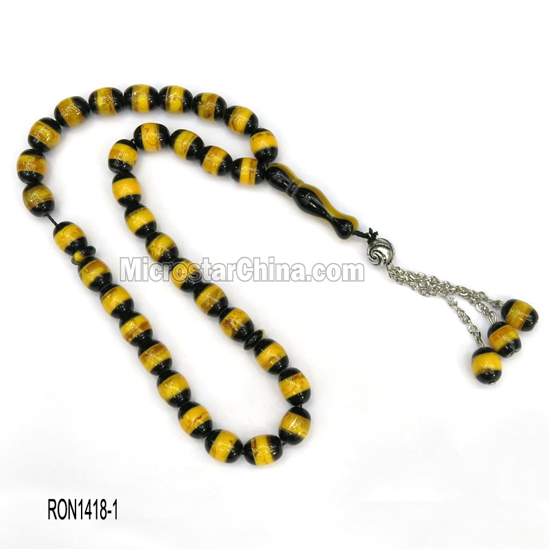 33pcs cheap good quality baltic amber muslim rosary