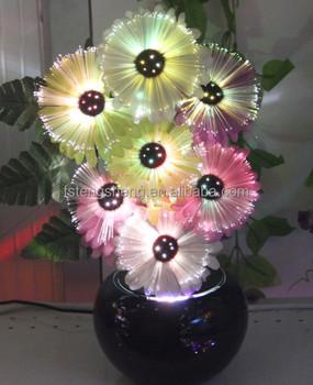 Decorative led flower vase light artificial/emulational fiber optic flowers & Decorative Led Flower Vase Light Artificial/emulational Fiber Optic ...