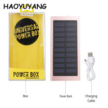 Portable 10000mah Dual Usb Solar Battery Charger Mobile Phone Charging Solar Panel Camping Power Bank