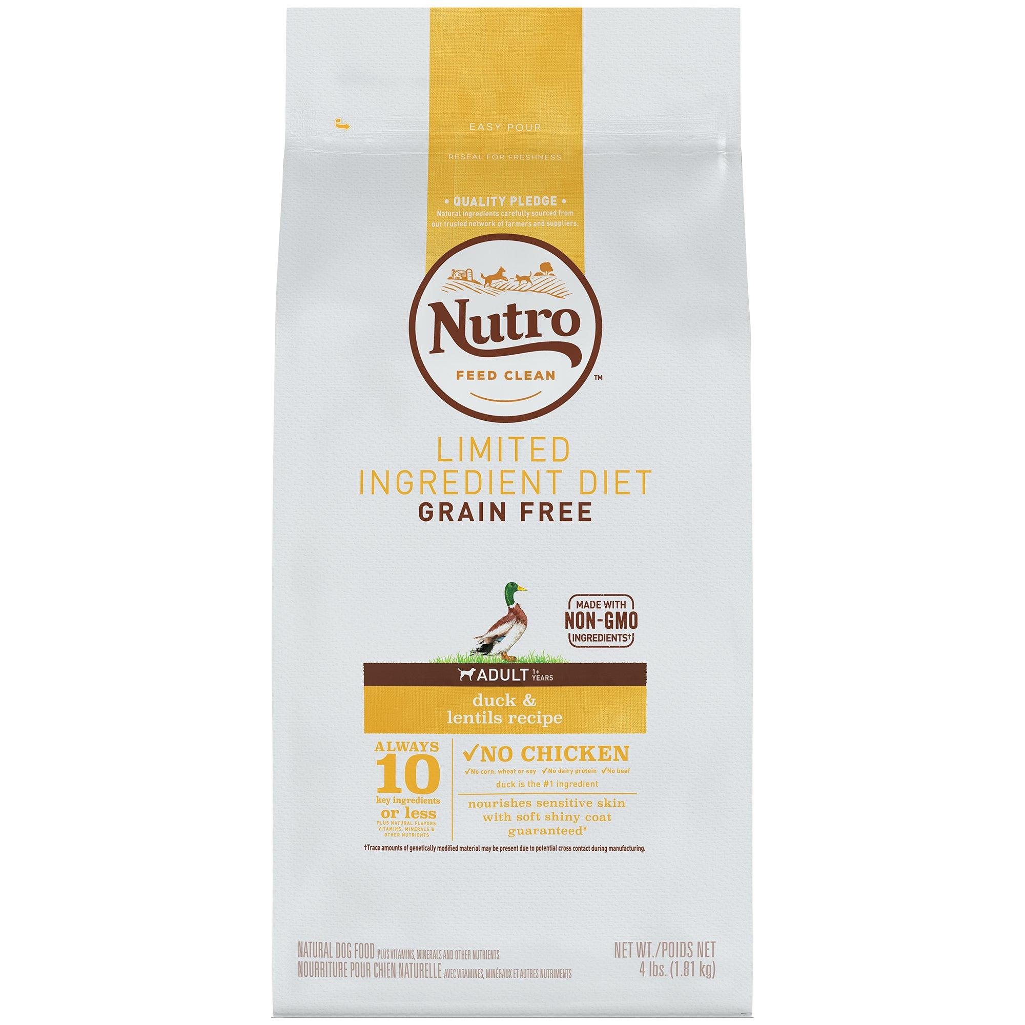 NUTRO Limited Ingredient Diet Adult Dry Dog Food Duck