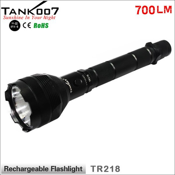 Tank007 TR218 Police LED Flashlight power light led torch military torch lamp