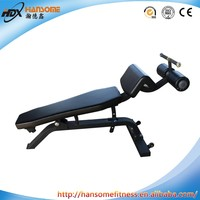 fitness equipment hydraulic cylinder adjustable decline and abdominal bench