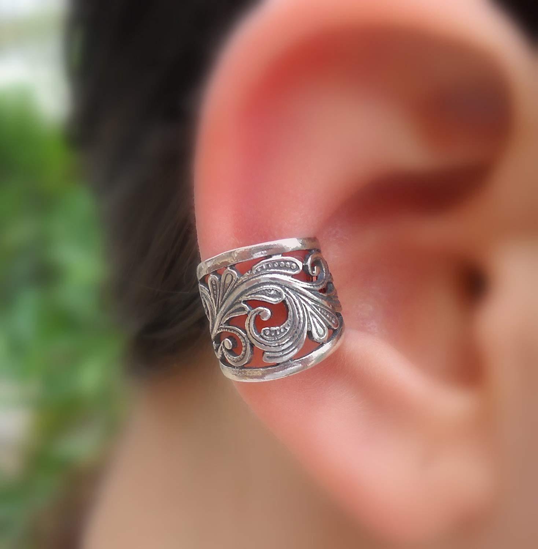 Ear Cuff - Fake Piercing - Fake Conch Piercing - Non Pierced Conch Cuff - Sterling Silver
