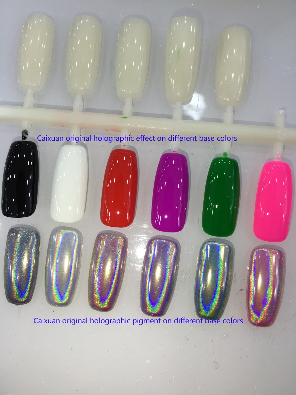 Caixuan Pigmento Holográfico Arco Iris Pigmento/laser Efecto,Polvo ...