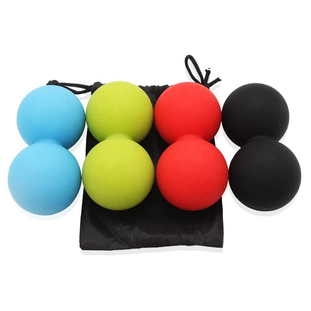Hot selling double ball design relax massage yoga ball silicone yoga ball