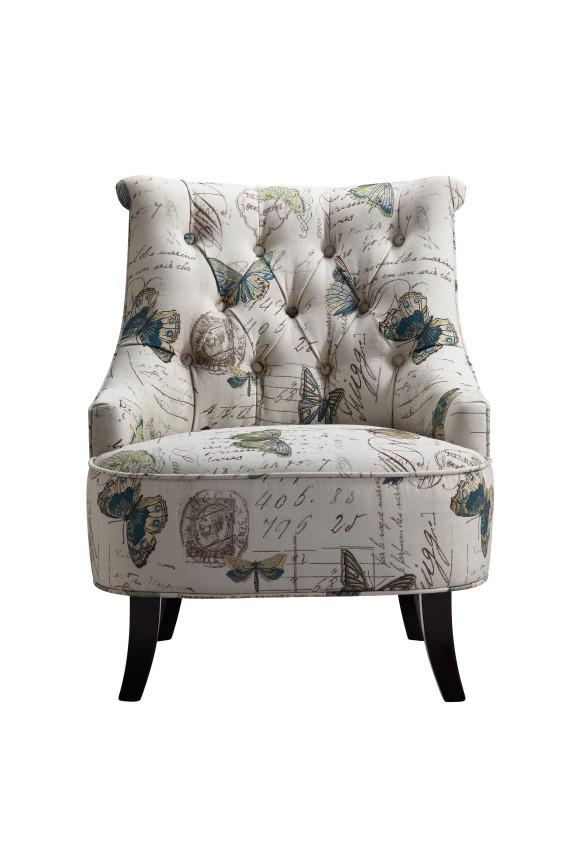 Artistical Exotic Fl Print Single Seater Wooden Sofa Chair