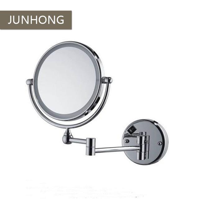 High Quality Chromed 2 Sides Arm Extend Led Bathroom Light Magnifying Mirror