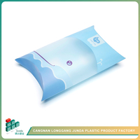 JUNDA Popular Sell Multicolor Recyclable Plastic Pillow Gift Packaging Boxes For Cookie And Candy