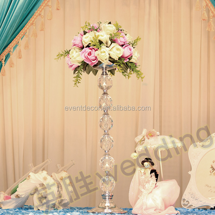 2014 Newest Product Tall Acrylic Flower Stands Wedding