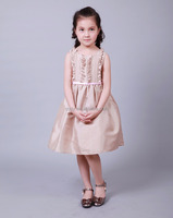 2015 wholesale Casual sleeveless children long frocks new design children frock model with ruffle top boutique dress kids