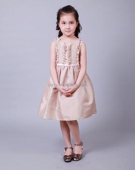 f93a956c3ada5 2015 toptan rahat kolsuz çocuk uzun frocks yeni tasarım çocuk elbise modeli  fırfır iyi butik elbise