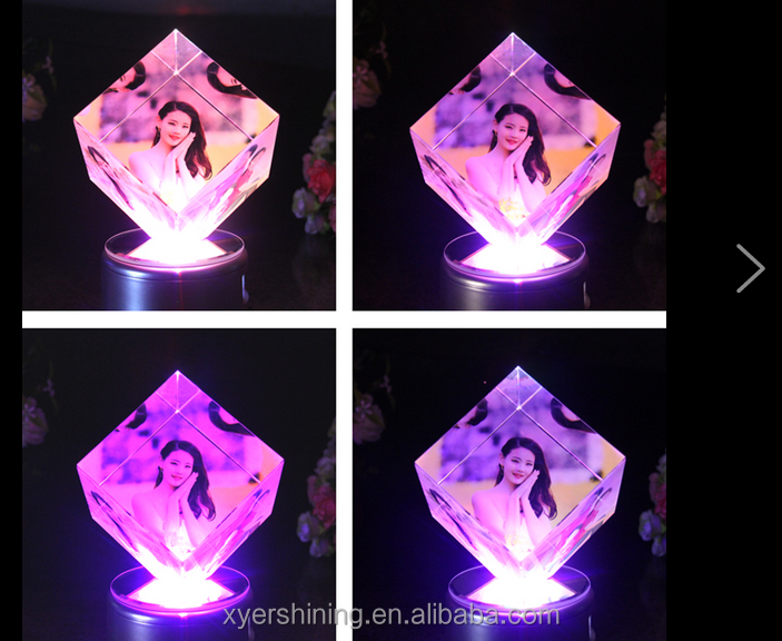 2015 3D Laser Engraved Wedding Photo <strong>Crystal</strong> For Guest Takeaway Gifts Souvenir