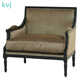 KVJ-4161 shabby chic antique love seat wooden sofa settee upholstery fabric