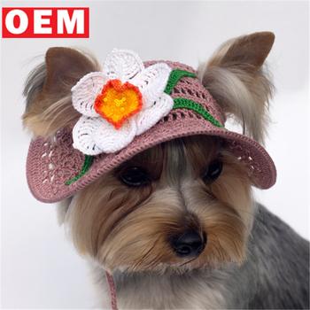 Ylm Custom Crochet Dog Hat Visor Beanie