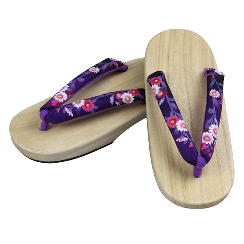 6ec937e4539197 Get Quotations · Ez-sofei Women s Japanese Shoes Flat Wooden Geta Clogs  Geta Sandals