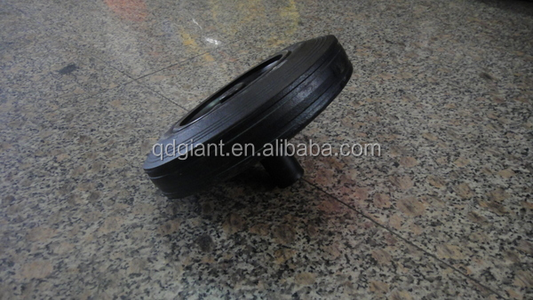supply black color small design rubbish dustbin wheel 200mmx50mm
