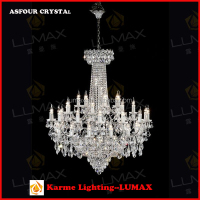 2016 New Classic European style Golden Chrome Crystal Chandelier Pendant Light Ceiling Lamp for Living Room, Sitting Room