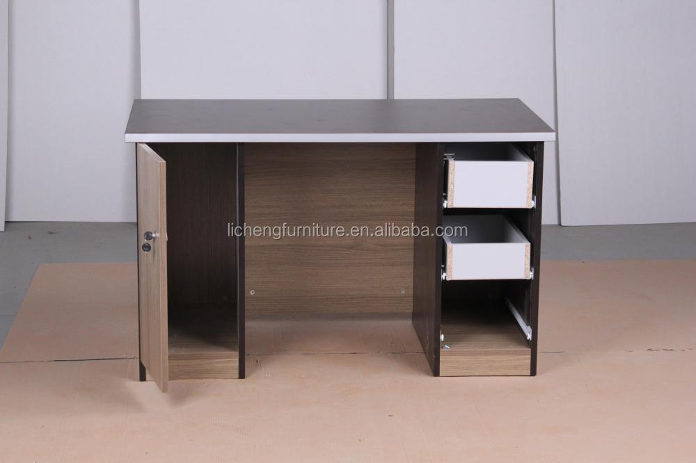 Goedkope Pc Kast : Goedkope computer bureau met kast laptop tafel met lades gesloten
